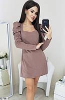 Комбинезон женский с шортами стильный трикотаж с люрексом 42-44,44-46 размеров,цвет мокко