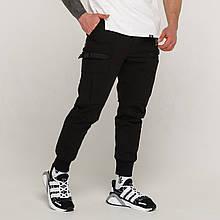Зимние карго штаны мужские черные, модель Танос (Tanos) от бренда ТУР
