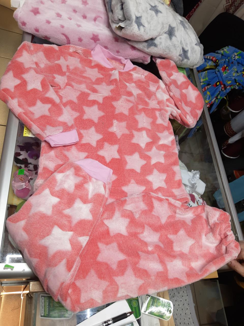 Махровая детская пижама Подросток р.128 - 140