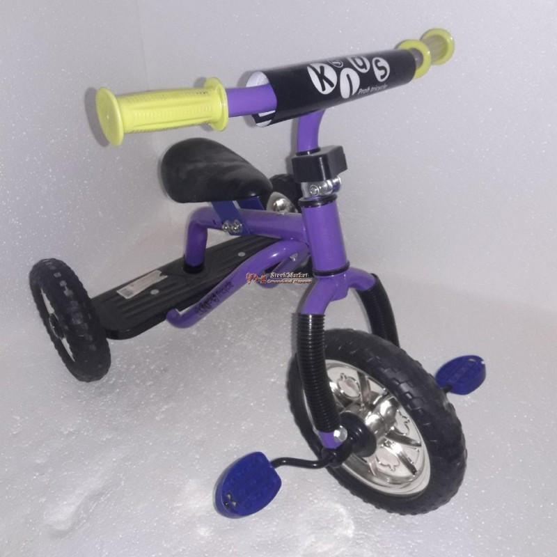 Велосипед трехколесный M 0688-1 EVA фиолетовый