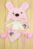 Розовый набор одежды Зайчик для куклы Блайз, Пуллип, Айси. Одежда для Pullip, ICY и Blythe