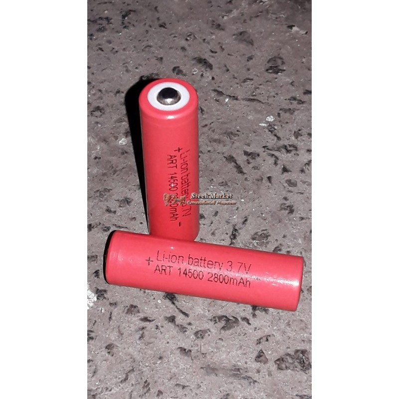 Батарейки li-ion 14500 2800 mAh 3.7V