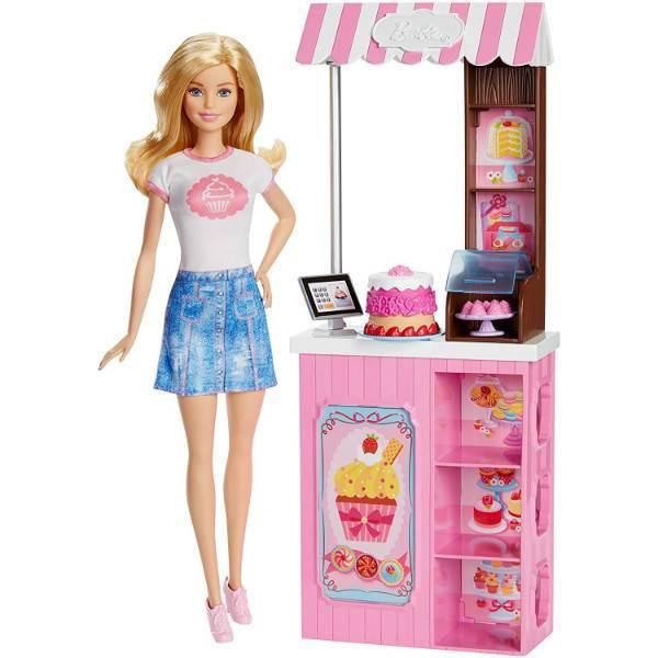 Barbie Барби в магазине сладостей Careers Bakery Shop Playset with Blonde Doll