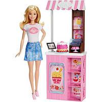 Barbie Барби в магазине сладостей Careers Bakery Shop Playset with Blonde Doll, фото 1