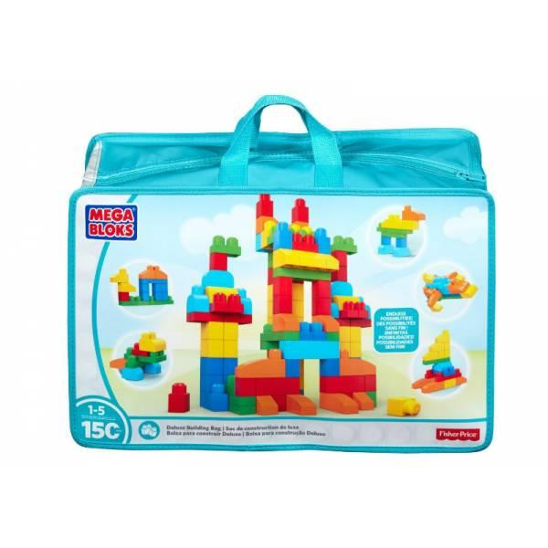 Mega Bloks  First Builders Конструктор 150 деталей в сумке Deluxe Building Bag 150-Piece
