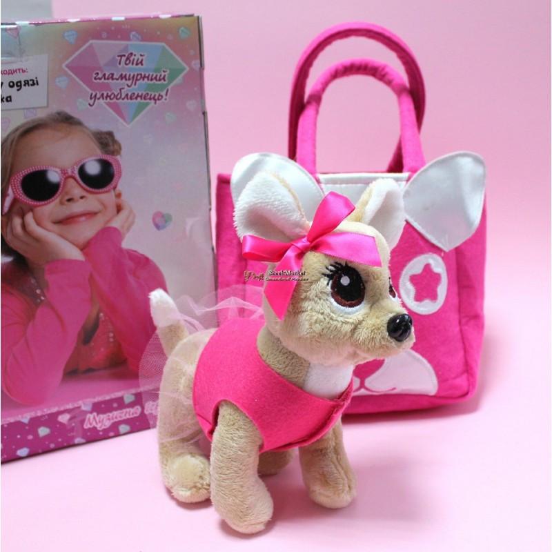 """Интерактивная игрушка """"Собачка Кикки"""" M 3641-N-RU 22 см в сумочке"""