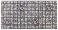 Панель ПВХ Регул Мозаїка Медальйон синій 955х488 мм