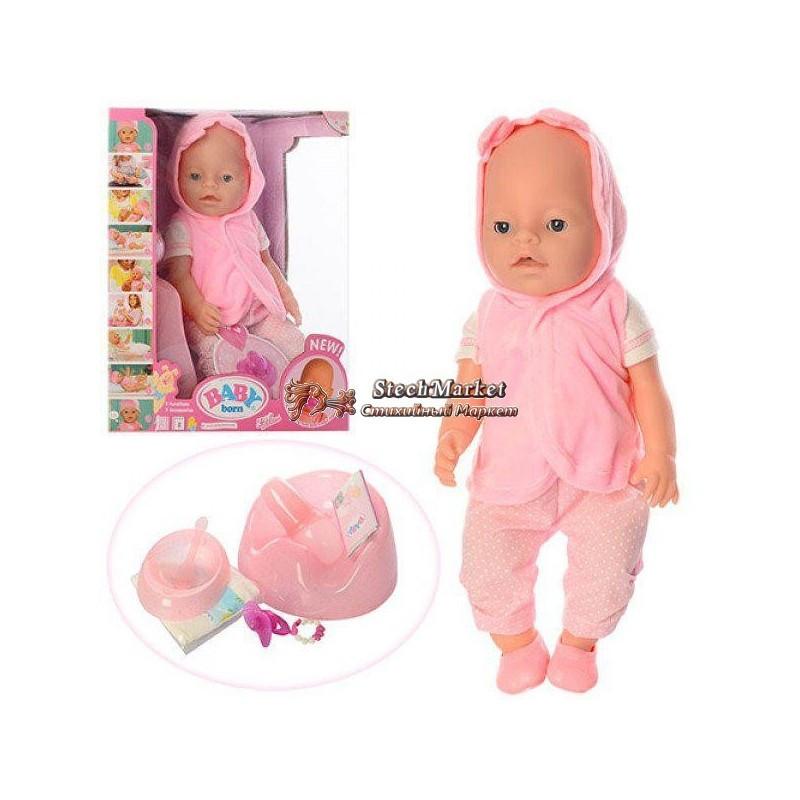 Кукла-пупс Baby Born 8006-458 42см 9 функций