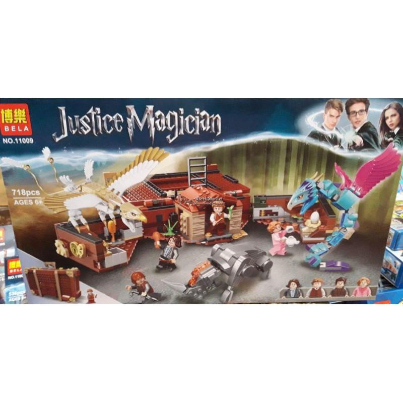 """Конструктор """"Чемодан Ньюта Саламандера"""" Bela Justice Magician 11009 718 деталей"""