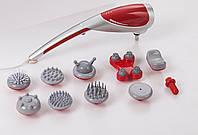 Ручний масажер Zenet ZET-718 універсальний вібромасажер для тіла з 10 насадками, фото 1