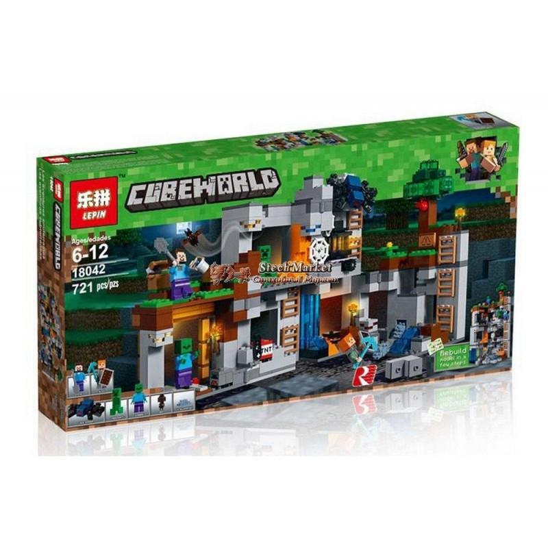 """Конструктор """"Приключения в шахтах"""" Minecraft Lepin 18042 721 деталь"""