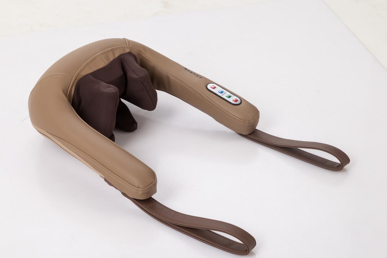 Роликовий масажер Zenet Zet-759 масаж шиацу для шиї, спини і плечей