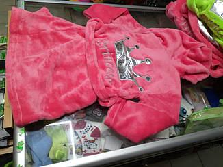 Детский махровый халат для девочки р. 92 - 116
