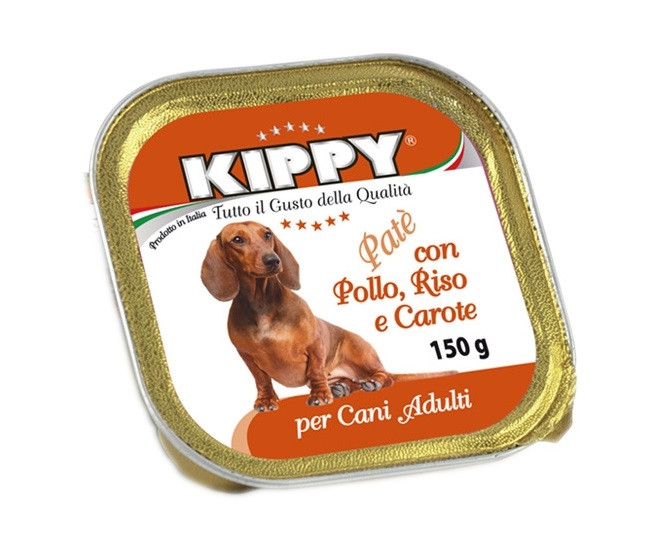 Консерви для собак Kippy з куркою, рисом та морквою 150 г