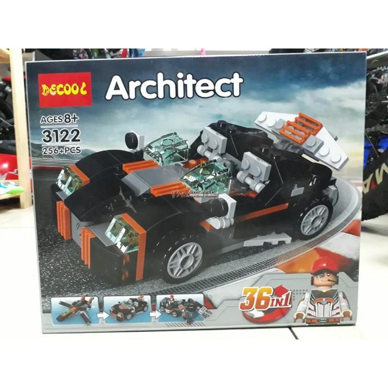 Конструктор Транспорт Decool Architect 36 в 1 3122 256 деталей