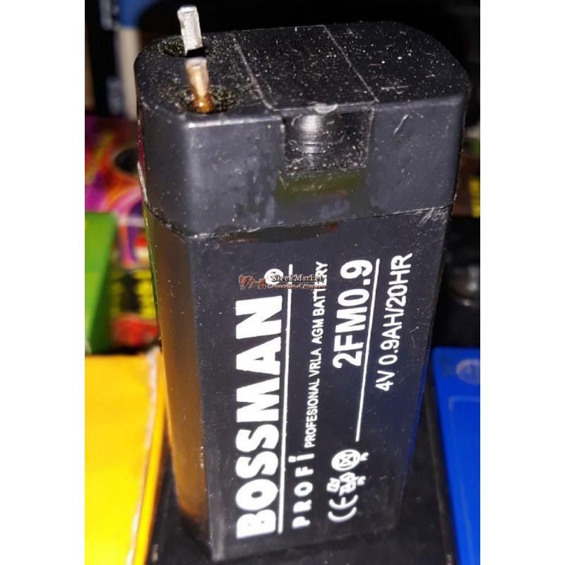 Аккумулятор 4V 0.9Ah Bossman 2FM0.9 30x21x63