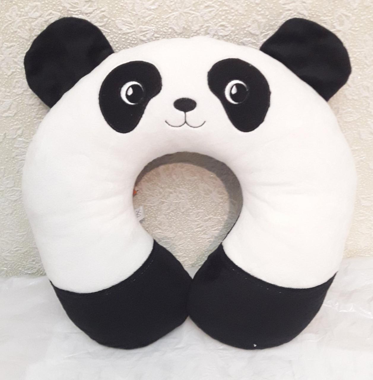 М'яка іграшка-подушка-підголівник Панда-Сонька
