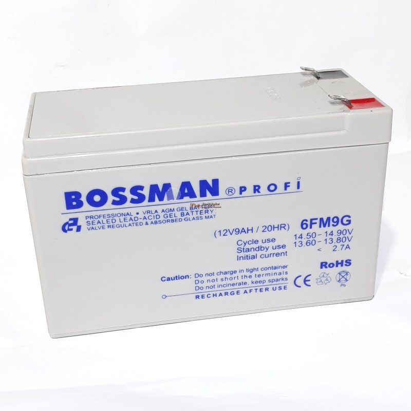 Аккумулятор Bossman Profi LA 1290 (12v/9Ah) 6FM9G белый 151 х 65 х 101 гелевый