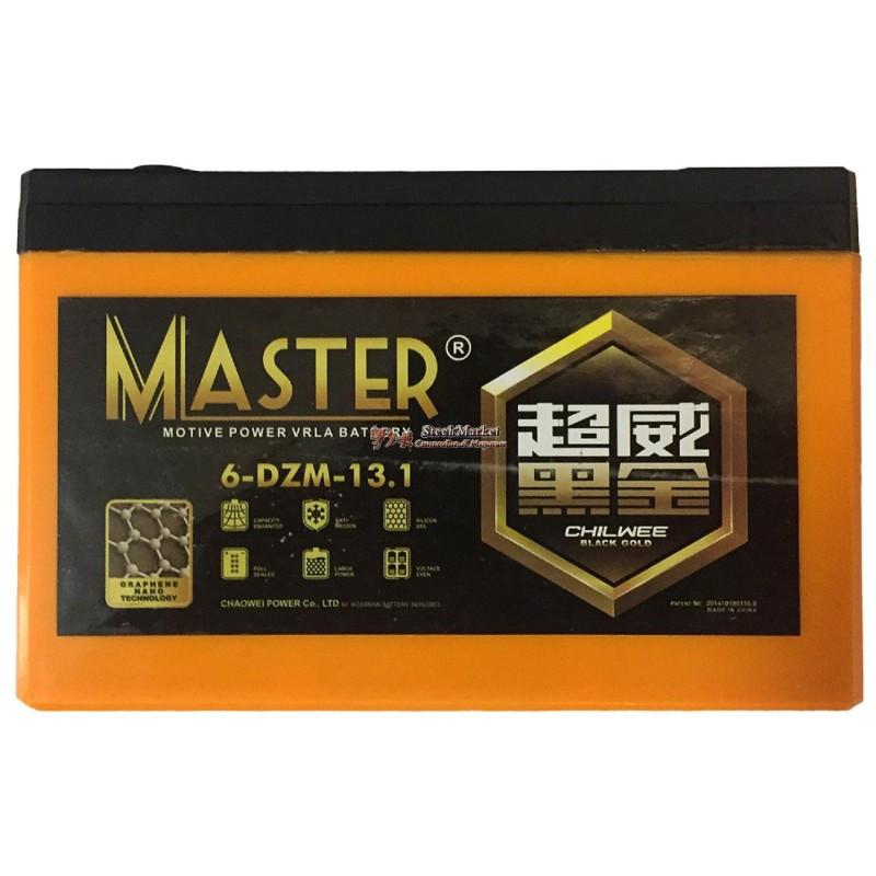 Тяговый аккумулятор 12V 13.1Ah Master 6DZM13.1 151 х 100 х 99 мм