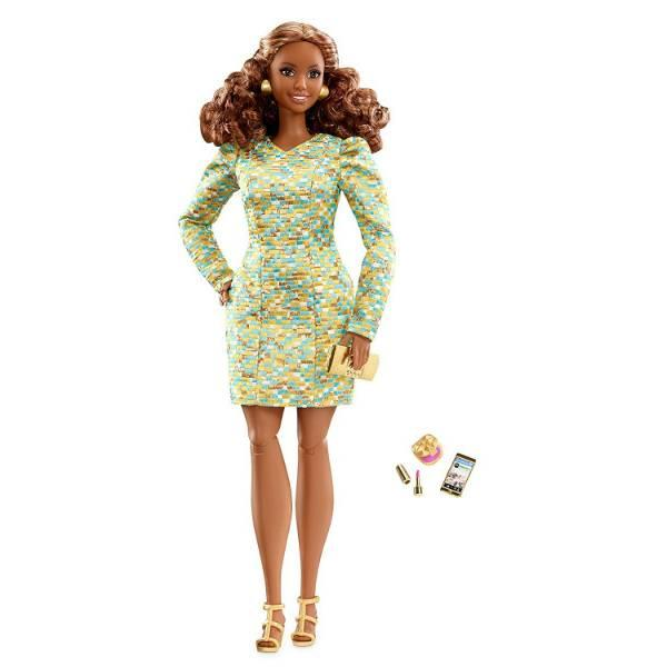 Barbie Кукла барби Высокая мода The Look Metallic Mini Doll