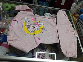 Пижама детская теплая для девочки р.86 - 134