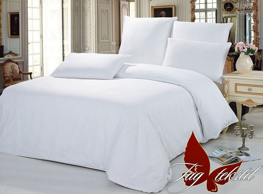 Семейный комплект постельного белья - ренфорс Белый