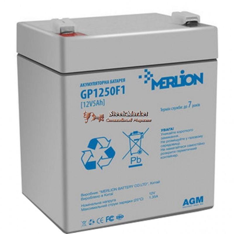 Аккумуляторная батарея 12V 5Ah MERLION ( 90 х 70 х 100 (105) ) Q10