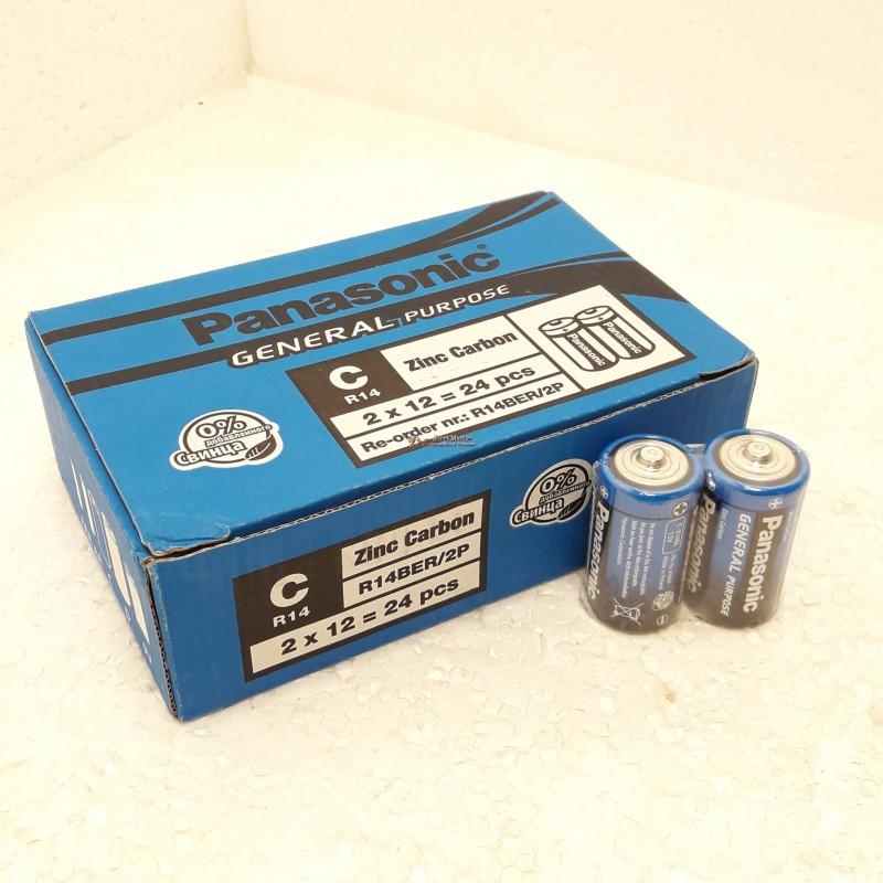 Батарейки Panasonic Zinc Carbon R14BER 1.5v 24 штуки