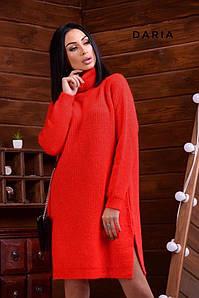 Женское вязаное платье-туника, в расцветках. Ч-7-1219 (5030)