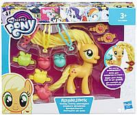 Игровой набор HASBRO My Little Pony- Пони с праздничными прическами: APPLEJACK b9617 b8809