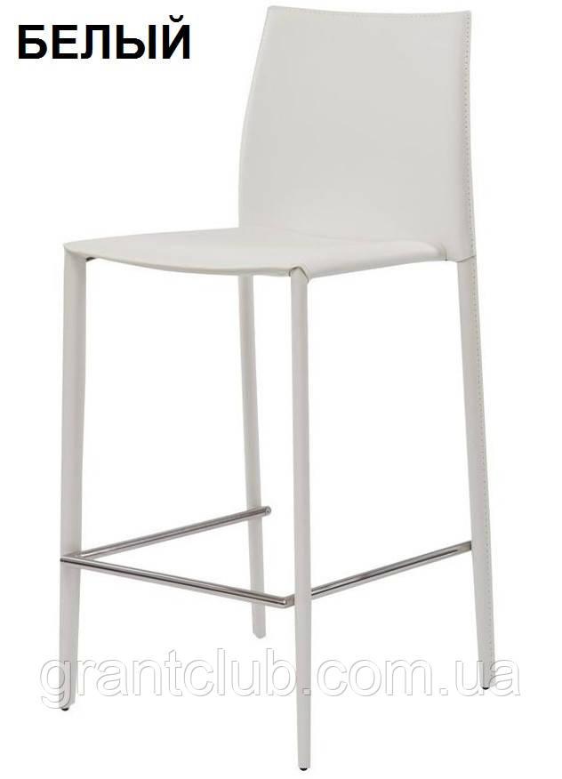 Полубарный стул GRAND (Гранд) белый кожа Concepto