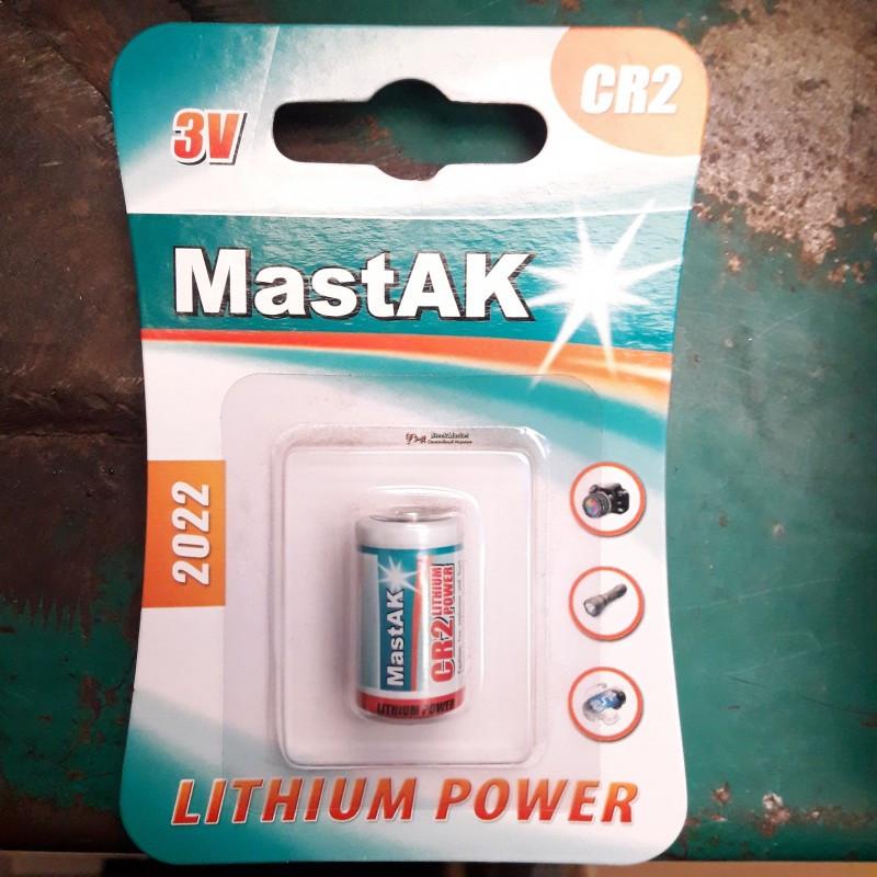 Батарейка 3v CR2 MastAK Lithium Power
