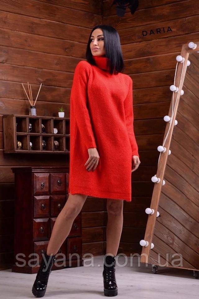 женское вязанное платье
