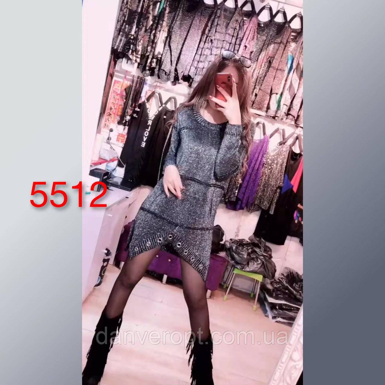 Платье-туника женская модная с люрексом размер универсальный 42-52 купить оптом со склада 7км Одесса