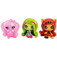 Monster High Minis Набор фигурок Дракулаура, Венера МакФлайтрап, Торалей Страйп DVF41 3-pack, фото 1