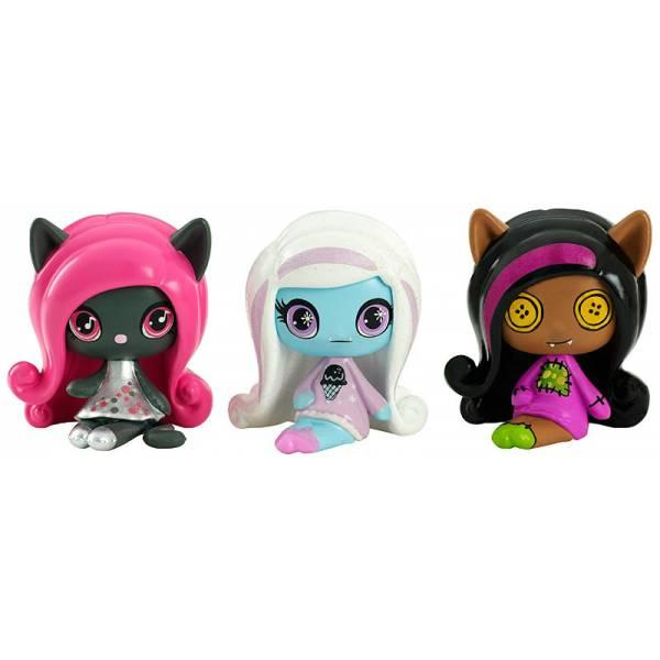 Monster High Minis Набор фигурок Клодин Вульф, Эбби, Кэтти Нуар 3-pack