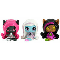 Monster High Minis Набор фигурок Клодин Вульф, Эбби, Кэтти Нуар 3-pack, фото 1