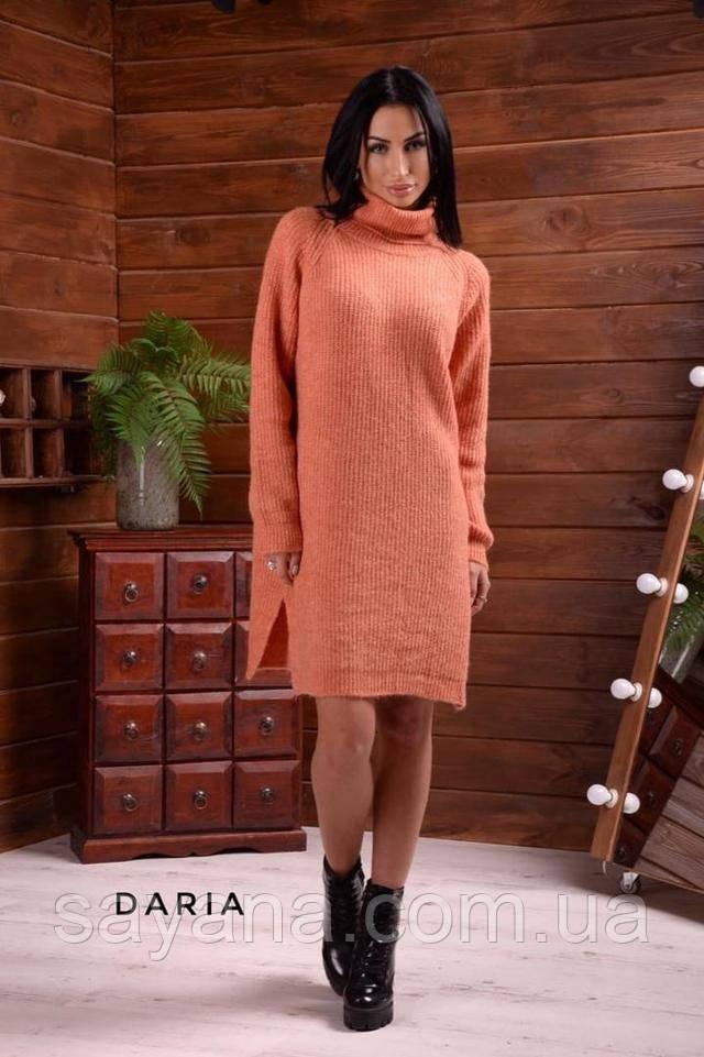 женское платье вязанное