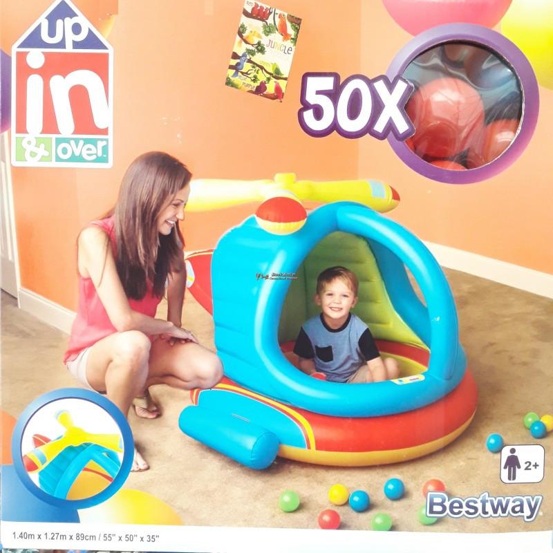 """Детский надувной центр """"Вертолет"""" Bestway 52217 140 х 127 х 89 см с шариками 50шт"""