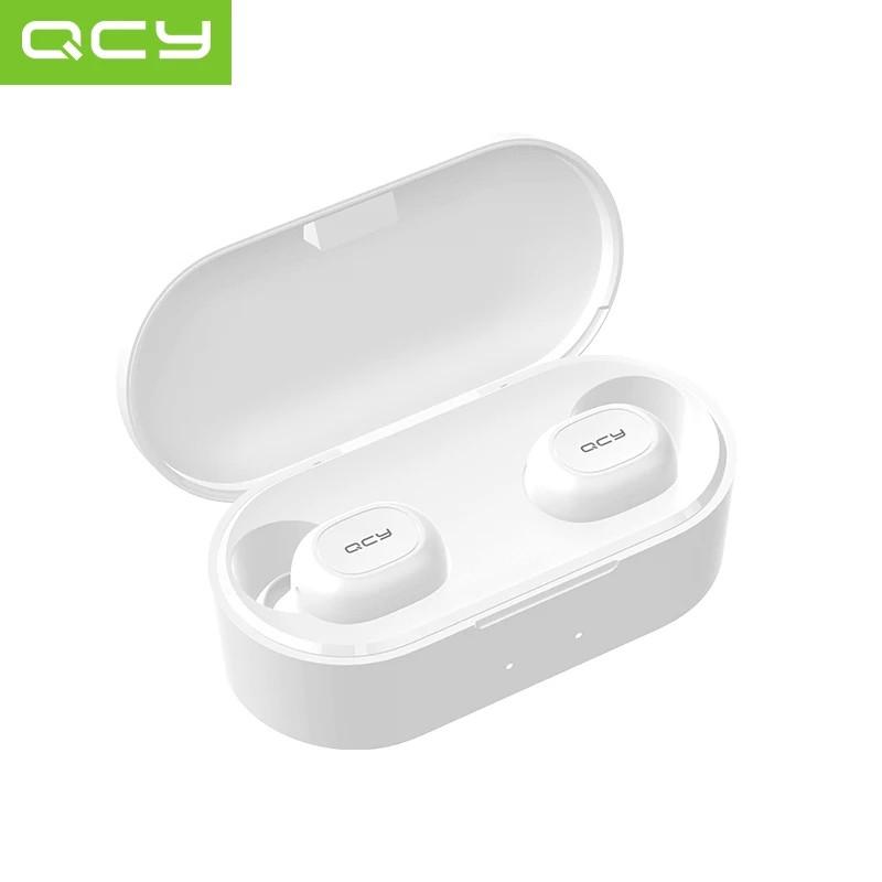 QCY T1S (QCY QS2 1ST t2c) TWS Полностью беспроводные раздельные наушники Bluetooth 5.0 гарнитура-наушники