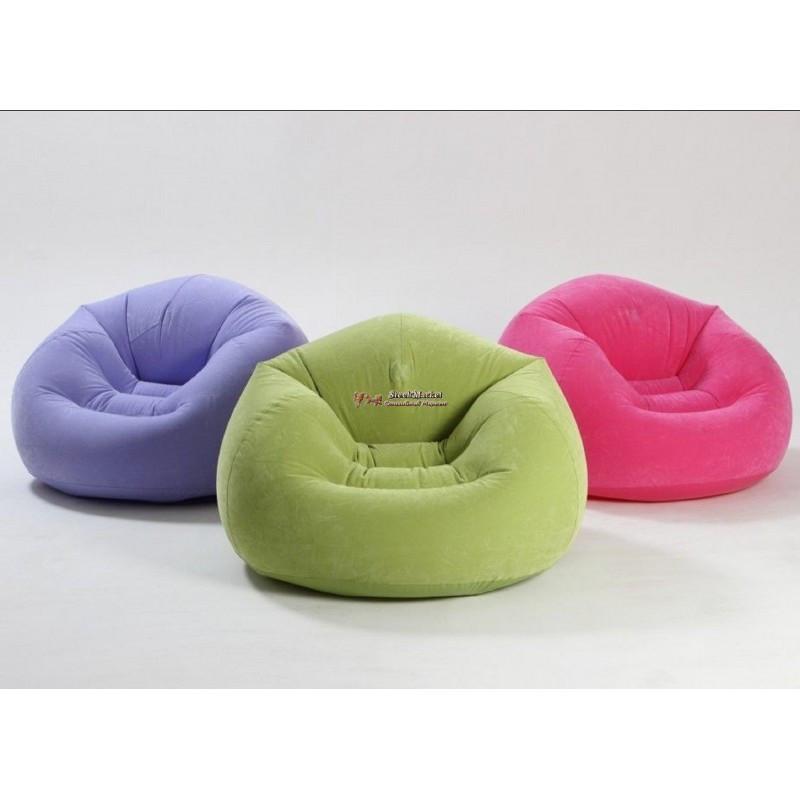 Надувное кресло мешок Intex 68569 107 х 104 х 69 см 3 цвета