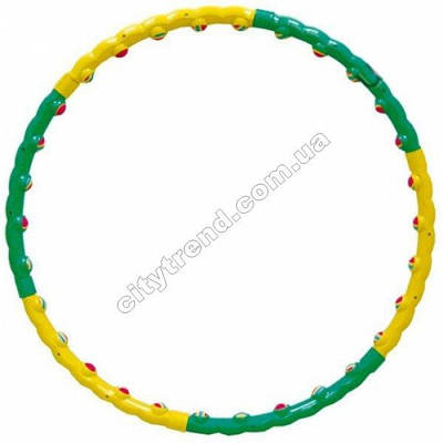 Обруч массажный (Hula Hoop) Color Ball d-90см