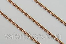 Цепочка позолоченная из серебра 925 пробы - Панцирь