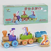 Деревянный поезд-каталка 39270