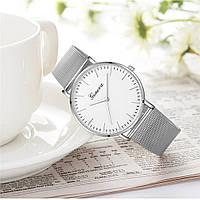 Женские наручные часы Geneva Classic steel watch серебрянные, кварцевые часы Женева