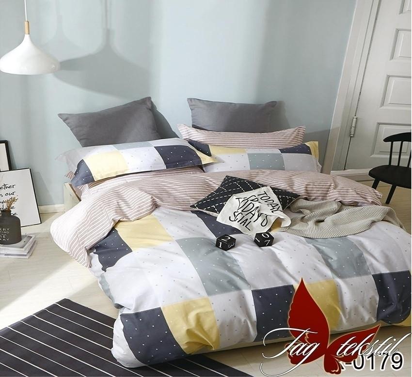 Полуторный комплект постельного белья ренфорс с компаньоном R0179