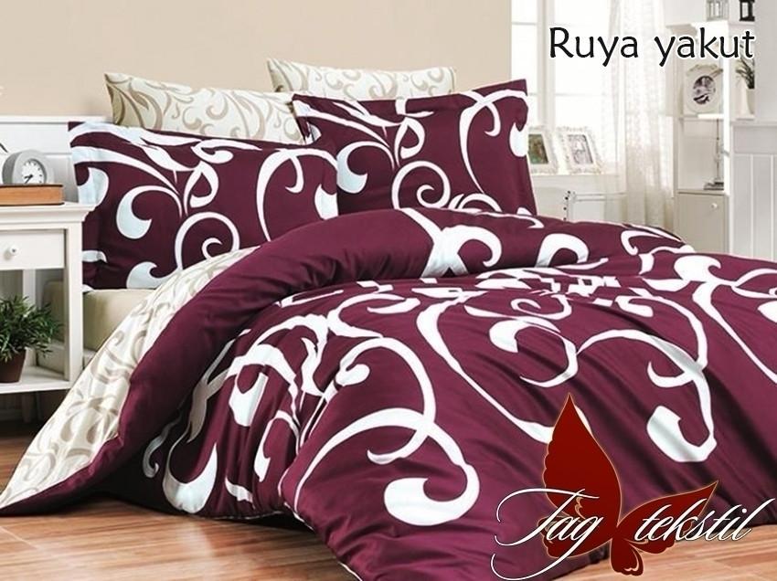 Полуторный комплект постельного белья ренфорс с компаньоном Ruya yakut
