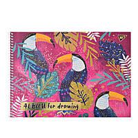 Альбом для рисования А4 20л/100 Opium на спирали мат.лам+глит зол+фольга зол YES код: 130377