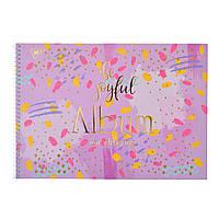 Альбом для рисования А4 30л/100 Marble на спирали мат.лам+глит зол+фольга зол YES        130389