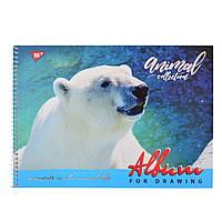 Альбом для рисования А4 30л/100 Wild force на спирали мат.лам+УФ-выб+фол сер YES код: 130391